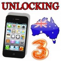 iPhone 3 3GS 4 4S 5 5C 5S 3 HUTCHISON AUSTRALIA (neblokuotas IMEI) oficialus gamyklinis atrišimas per 12 h