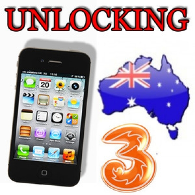 iPhone 3 3GS 4 4S 5 3 HUTCHISON AUSTRALIA (blokuotas IMEI) oficialus gamyklinis atrišimas per 1-2 d.d.