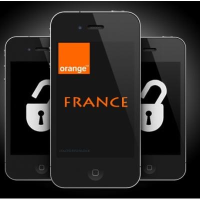 iPhone 4 4S 5 5C 5S 6 6+ ORANGE FRANCE (neblokuotas IMEI) oficialus gamyklinis atrišimas iš karto
