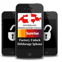 iPhone 3 3GS 4 4S 5 SUNRISE SWITZERLAND (blokuotas ir neblokuotas IMEI) oficialus gamyklinis atrišimas iš karto