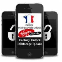 iPhone 3 3GS 4 4S 5 5C 5S VIRGIN FRANCE (neblokuotas IMEI) oficialus gamyklinis atrišimas per 1-3 d.d.