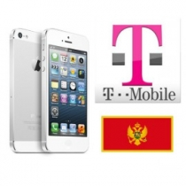 iPhone 5 5C T-Mobile MONTENEGRO (blokuotas ir neblokuotas IMEI) oficialus gamyklinis atrišimas per 1-48 h