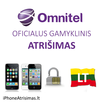 iPhone 4 4S 5 5C 5S 6 6+ OMNITEL LIETUVA (neblokuotas IMEI su pasibaigusia sutartimi) oficialus gamyklinis atrišimas per 1-3 d.d.